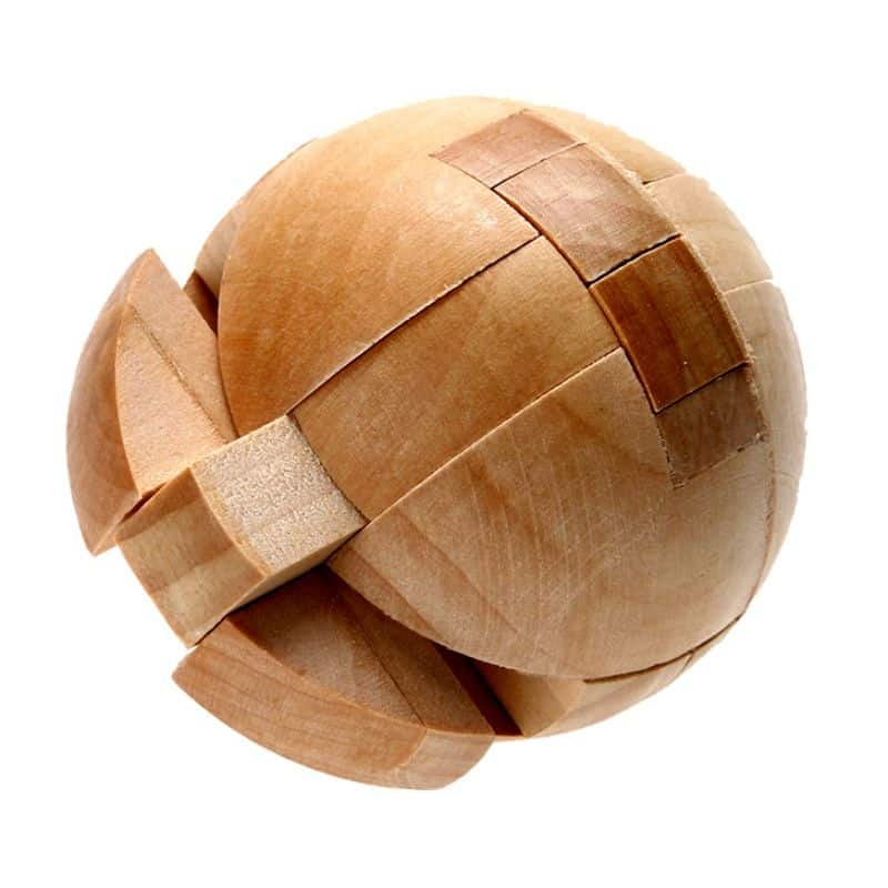 agiftidea - Wooden Puzzle Magic Ball Brain Teasers Toy