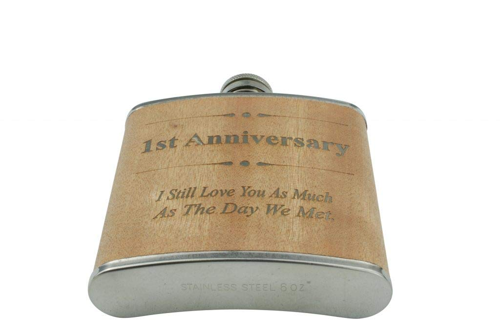 one year dating Anniversary Gifts For Him Hip Flask