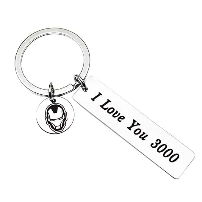 I Love You 3000 Lettering Engraved Cuff Bangle Key chain