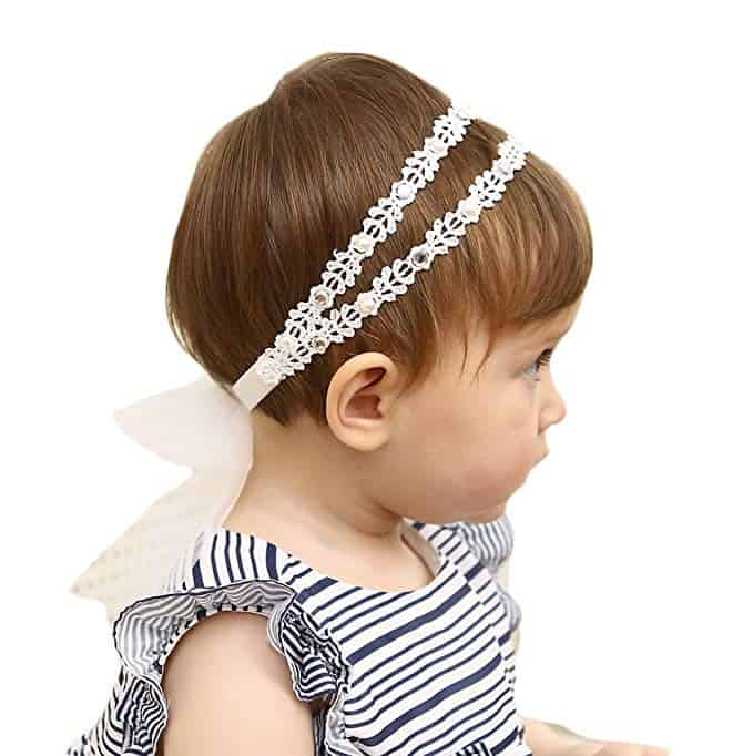 Elastic Headband Cotton Lace a baptism baby girl gifts