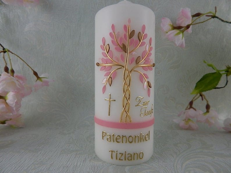 Personalized Baptism Candle Tree of Life a baptism girl gifts