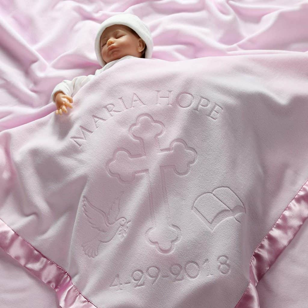 Personalized Christening Baby Blanket