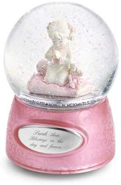 Personalized Praying Girl Musical Snow Globe