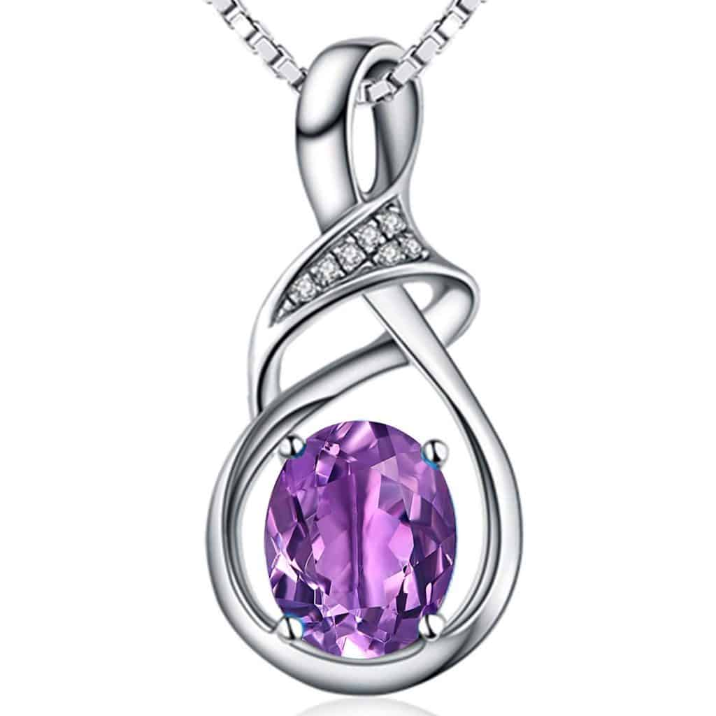Topaz Amethyst Pendant Necklace