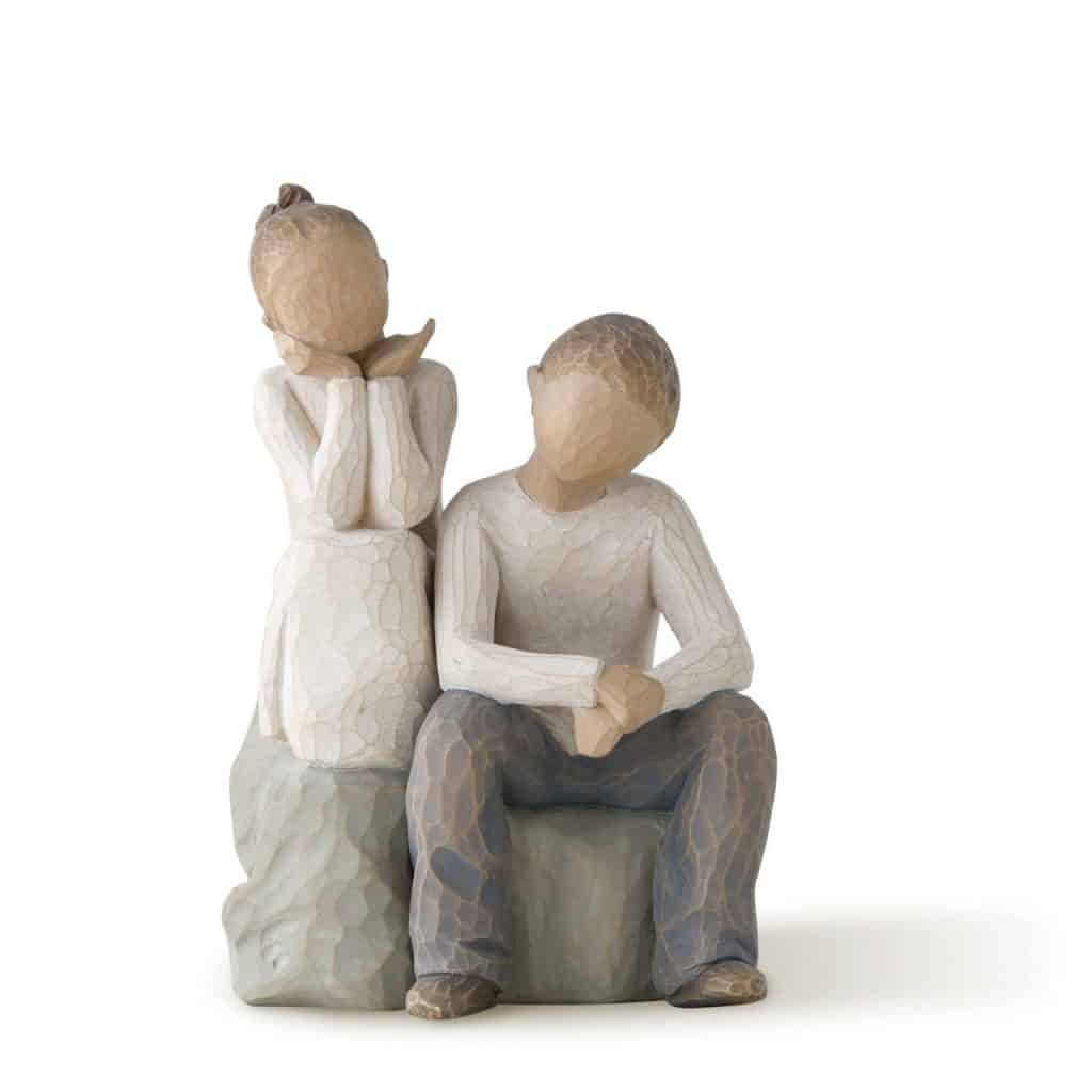 Willow Tree Brother and Sister Sculpted Hand-painted Figure
