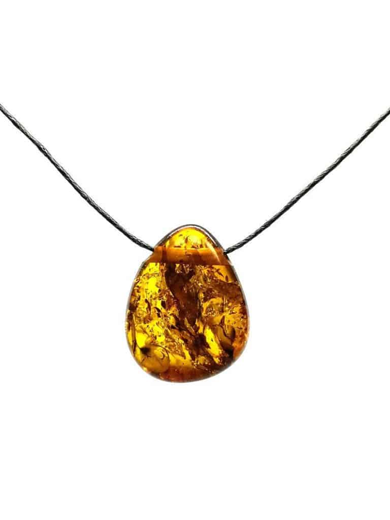Irregular Shape Baltic Amber Pendant