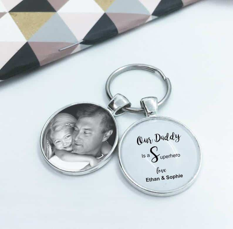 Personalized Glass Dome Key Chain