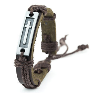Cross Leather Bracelet a confirmation gifts for boys
