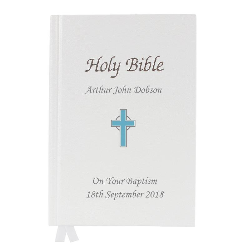 Personalized Cross Design Holy Bible