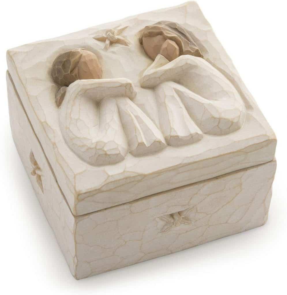 Sculpted Hand-Painted Keepsake Box