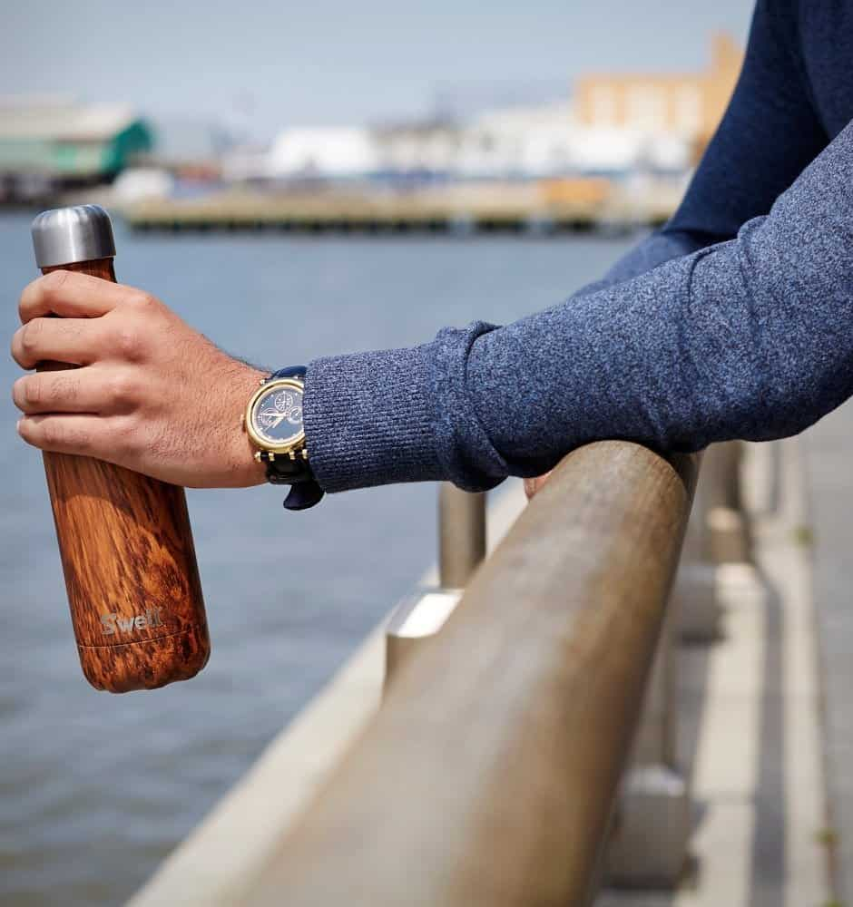 Swell Teakwood Water Bottle - agiftidea.com