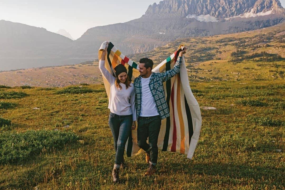 Glacier National Park Blanket